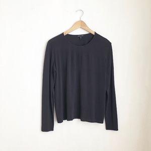 Eileen fisher silk plum blouse long sleeve -S